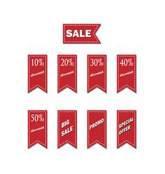 big sale logo discount sale promo sticker label vector image