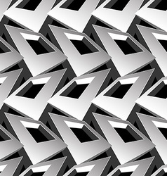Black and white 3D square abstract seamless vector image