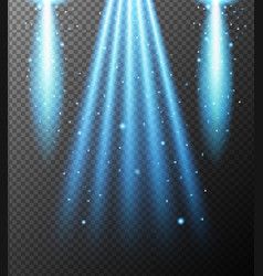Blue light shining down on gray background vector