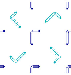 Blue tool allen keys icon isolated seamless vector