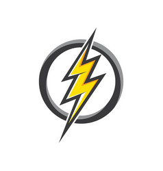 bolt icon design vector image