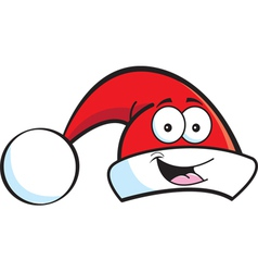 Cartoon Santa Hat vector image