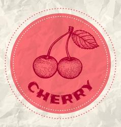 Cherry vintage paper vector