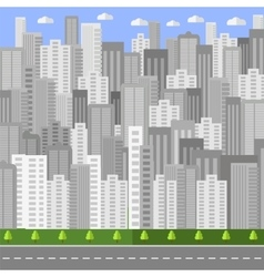 City Background Urban Landscape vector image