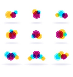 Colorful symbols vector