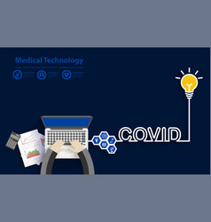 Covid-19 coronavirus success idea concept with vector