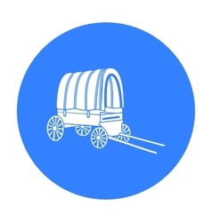 Cowboy wagon icon black Singe western icon from vector image