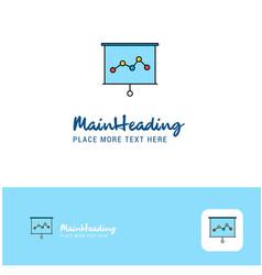 creative graph chart logo design flat color logo vector image