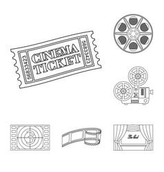 design of cinematography and studio symbol vector image