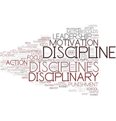 Disciplines word cloud concept vector