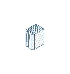 Education book library literature isometric icon vector