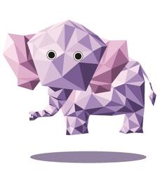 Elephant polygon vector