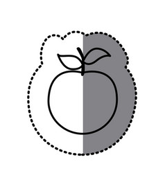 figure apple fruit icon vector image