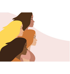 flat banner with different women vector image