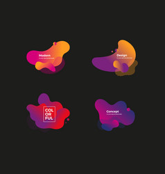 fluid and liquid shapes trendy design templates vector image