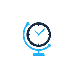 geography time logo icon design vector image