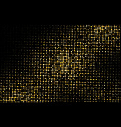 Gold glitter halftone dotted backdrop pattern vector