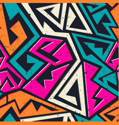 Graffiti geometric seamless pattern vector