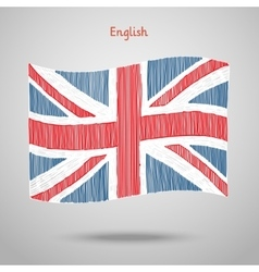 Hand drawn Great Britain Flag vector image