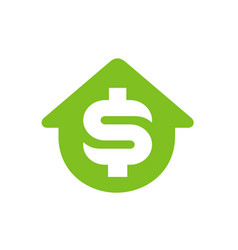 house symbol with dollar money symbol logo design vector image