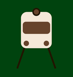Icon in flat design for airport train vector