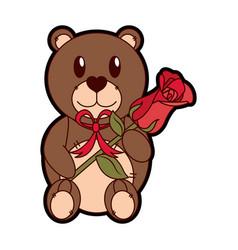 Isolated teddy bear design vector