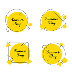 Label summer day vector