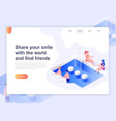 landing page template relationship vector image
