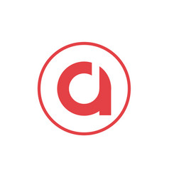 Letter a negative space letter d icon logo design vector