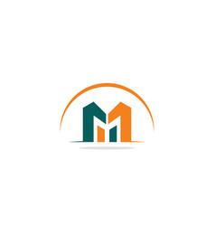 M initial logo vector