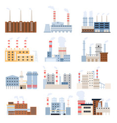 manufacturing factory industrial building vector image