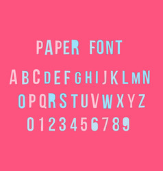 modern colorful paper font with numbers vector image