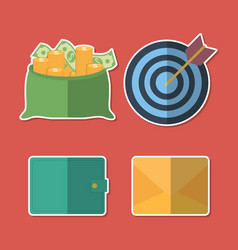 money related icons vector image
