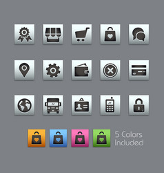 Online store icons - satinbox series vector