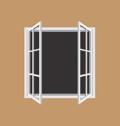 Open window frame icon vector