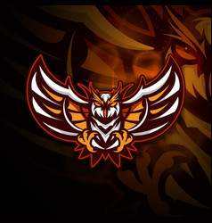 owl head mascot logo design sport logotype eps10 vector image