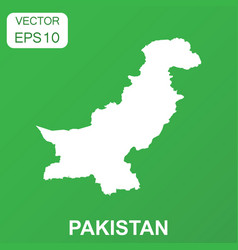 pakistan map icon business concept pakistan vector image