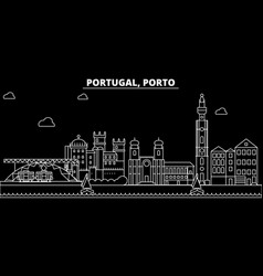 Porto silhouette skyline portugal - porto vector