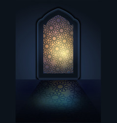 Ramadan background mosque window vector