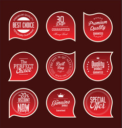 red paper sale stickers collection vector image