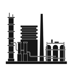 refineryoil single icon in black style vector image