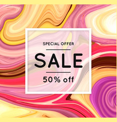 sale marbling marble texture discount vector image