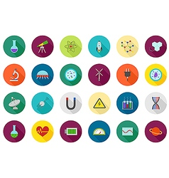 science round icons set vector image