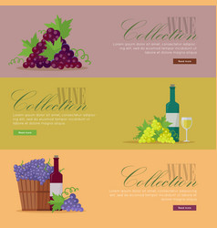 Set fliers for elite wine collections vector