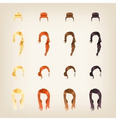 Set of female hair vector image
