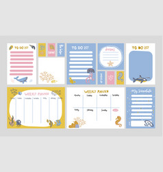set planners and to fo lists with simple vector image