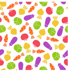 silhouette seamless vegetable pattern vector image