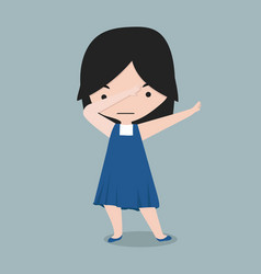 Small girl dabbing movement vector