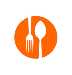 spork negative spoon fork restaurant circle icon vector image