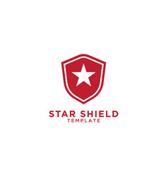 star shield graphic design template vector image